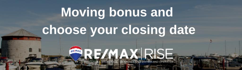 moving bonus you choose closing date